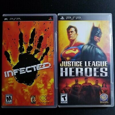 Infected & Justice League Heroes PSP Bundle. READ DESCRIPTION BEFORE BUYING