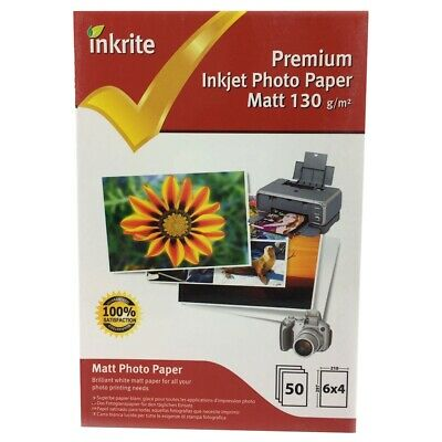 Inkrite PhotoPlus Professional Paper Photo Gloss 130gsm 6x4 (50 sheets)