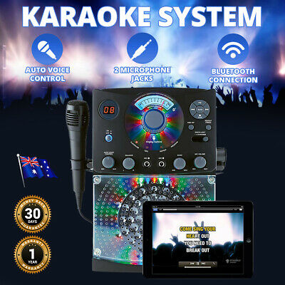 Karaoke System Singing Machine Classic LED Lights Home Audio Stereos 5 Songs