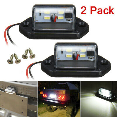 2pcs 4 LED License Number Plate Light Lamp For Truck Trailer Lorry SUV Universal