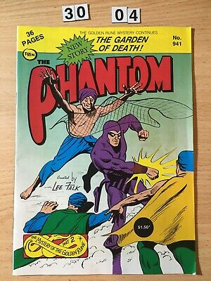 """Frew Phantom Comic # 941 From 1989. """"The Garden of Death""""  Fine  Cond."""