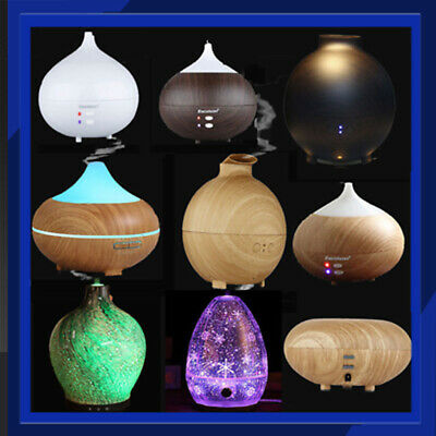 Ultrasonic Humidifier LED Light Essential Oil Aroma Home Aromatherapy Diffuser