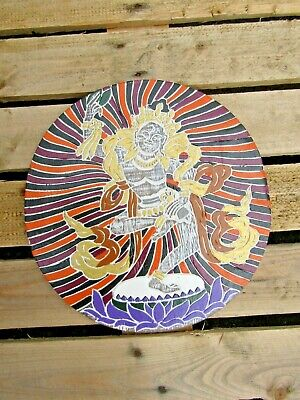 Hand Carved Made Wooden Machig Labdron Tibetan Buddhist Wall Art Hanging Plaque