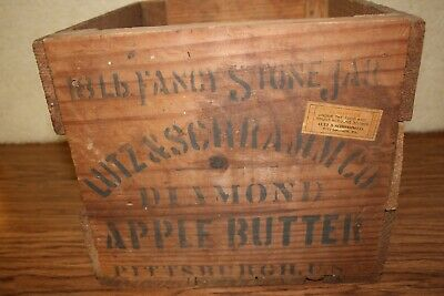 Antique Wooden Box/Crate With Advertising Panels - Guaranteed Under FDA In 1906!