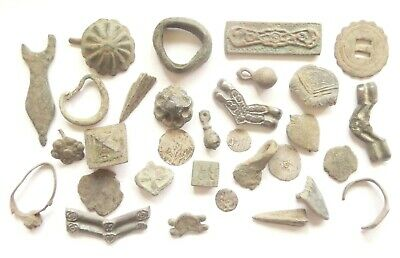 Lot of Misc. Ancient Bronze / Silver Artifacts^*^