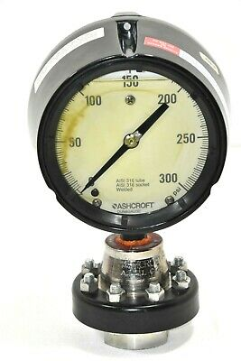 Ashcroft 316Ss Duragauge With C1215 Base. 300Psi