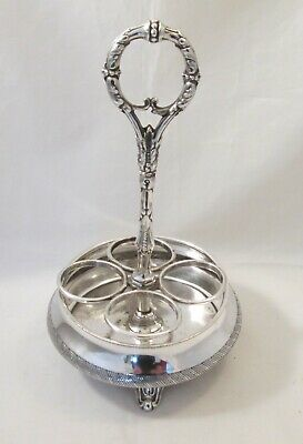 A Good Vintage Silver Plated Cruet Stand