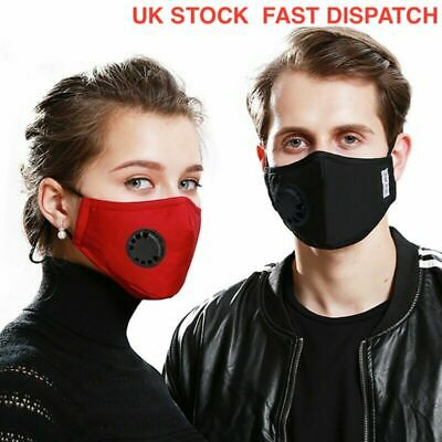 Adult Reusable & Washable Cotton Face Mask - BLACK - UK Stock- SAME DAY DISPATCH
