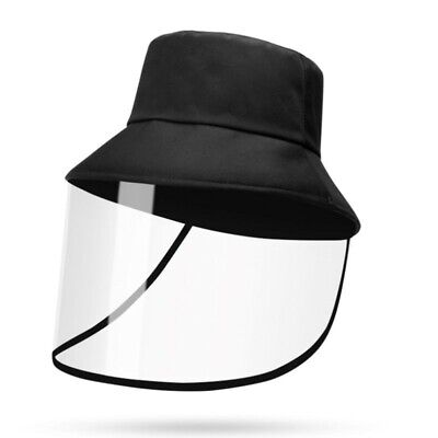 Protective Bucket Hat- Face PVC Shield Anti Safety Protect Visor & Free Shipping