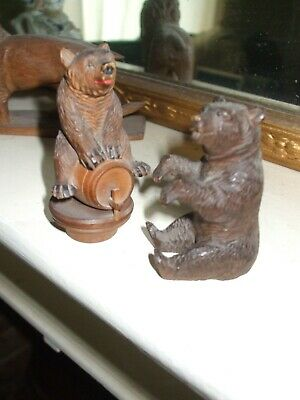 Pair of antique Black Forest bears, excellent condition