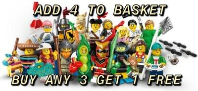 Lego Minifigures Series 20 71027 Pick Your Own Buy Any 3 Get 1 Free New/Unopened