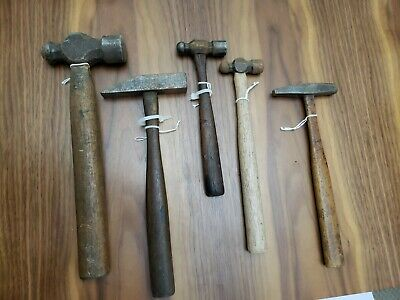 Lot of 5 Vintage body hammer Round Square face