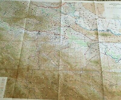 Large Rare Vintage US Army Topographic Wall Map 1960'S  THE BALKANS BROD BEOGRAD