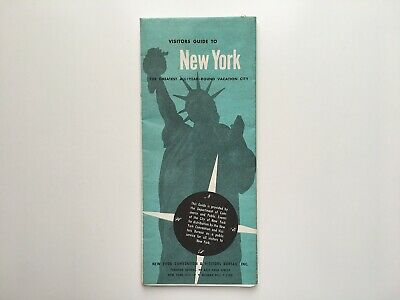 Vintage 1958 Visitors Guide to New York City Map and Information Pamphlet