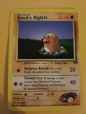 Pokémon Brock's Diglett 67//132 Gym Challenge Set COMMON Card