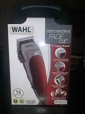 Wahl Fade Cut Men's Complete Haircutting Kit 16 Piece Professional Clippers
