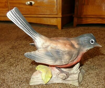 Rare Unusual Vintage Porcelain Or Bone China Robin Bird Bobble Head Nodder Japan