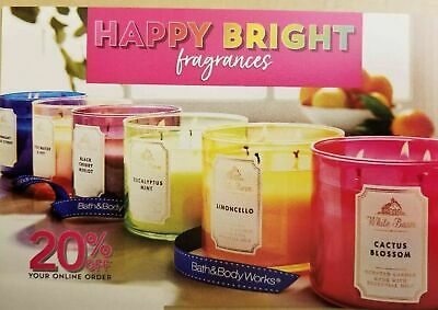 Bath & Body Works Coupon 20 % Off Online Purchase    Exp. August 8/2020