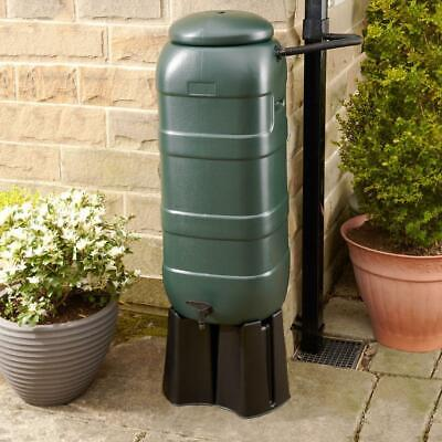 Slimline Water Butt 100L with Stand and Filler Kit - Green