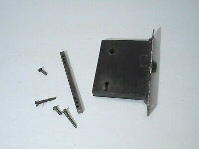Antique Mortise Door Lock Salvage Victorian Decor FOR PARTS no KNOBS or KEY