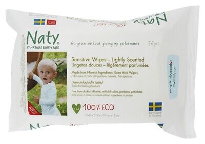 Naty - Sensitive Wipes Unscented - 56 Wipe(s)