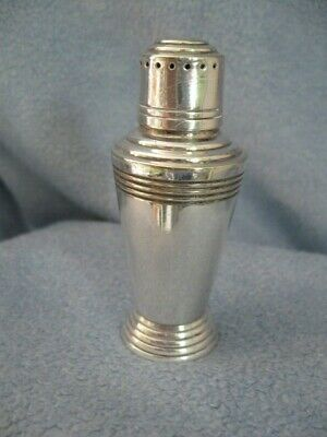 Vintage Deco Mappin & Webb Cocktail Pepper Shaker.keith Murray Design.