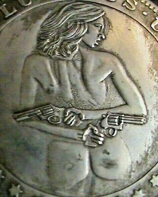 Fantasy~007 Bond Girl~Poker Card Guard~Heads OR Tails~Exonomia Coin~38 mm