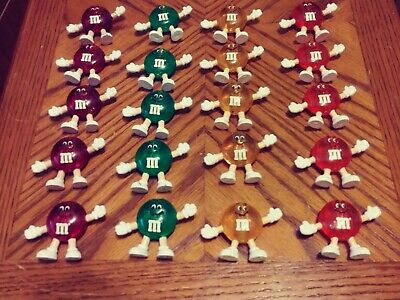 Vintage M&M Christmas Mini String Light Covers Set 20 Pieces 5 Per Color Lot #2