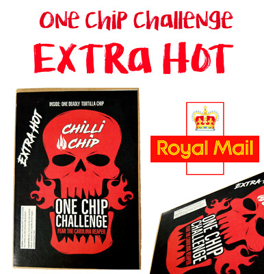 ONE CHIP CHALLENGE .... WORLDS HOTTEST CHILLI CHIP x 1