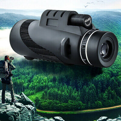 40x60 Monocular Low Light Night Vision Telescope with Tripod and Clip Support