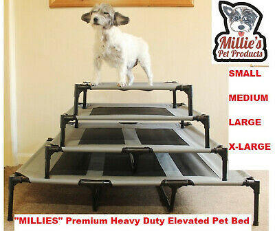 Millies Elevated Dog Pet Bed Portable Waterproof Outdoor Raised Camping S,M,L,XL