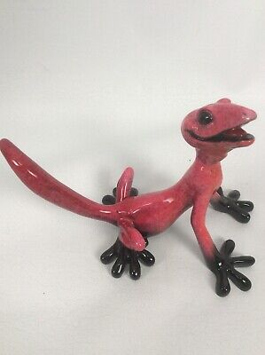 Cute Kitty 's Critters Pink Gonzo Lizard Gecko Figurine