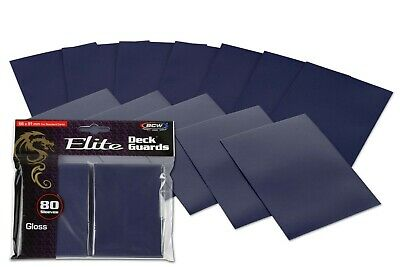 1 PACK 80 WHITE BCW DECK GUARD GLOSSY ELITE