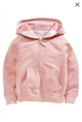Bnwt Next Pink Zip Through Hoody, Size 7 Years