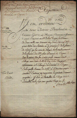 King Charles X (France) - Document Signed 1781