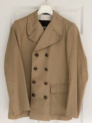 Vintage Austin Reed Of Regent Street Wool Pea Coat Overcoat Double Breasted 38 39 00 Picclick Uk