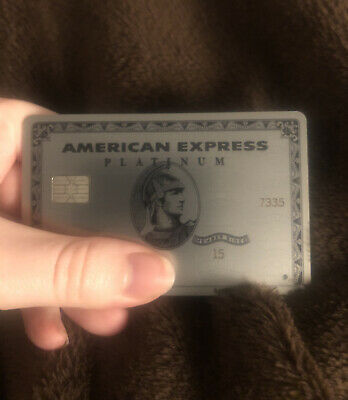American Express Platinum Card Metal AMEX NOT ACTIVE Used Heavy Aluminum