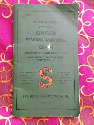 Singer Instructions booklet Form 20339 Electric Sewing Machine 66-14 small book