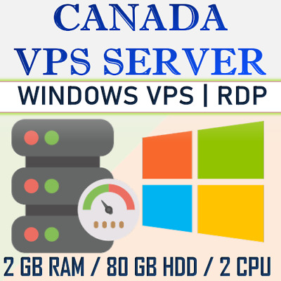 Canada Windows VPS Server / RDP Server / VPS Hosting - 2 GB RAM + 80 GB HDD