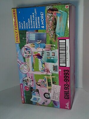 Mattel GHL93 Barbie 3 in 1 Dream Camper Playset - Pink - Ages 3+ NEW Condition.