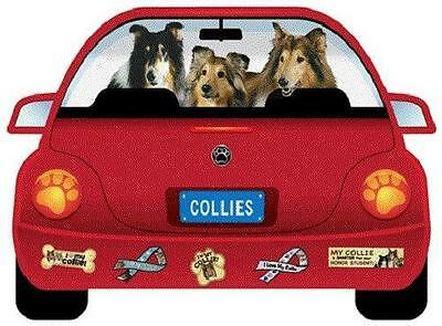 Collies-Pupmobile Magnet