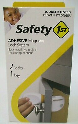 Safety 1st Adhesive Magnetic Lock System with 2 Locks and 1 Key New