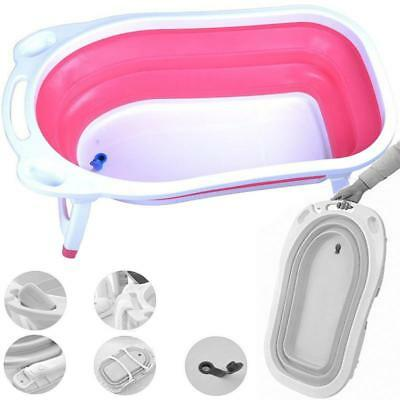 Pink & White Easy Clean Foldable Baby Girls Bath