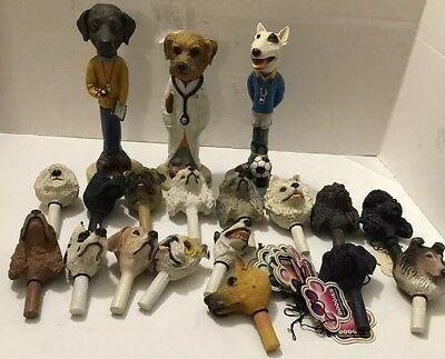 DOOGIES INTERCHANGEABLE HEAD FOR DOOGIE FIGURINES Large Lot With Flaws