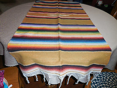 Southwestern Mexican Blanket Throw Table Runner Wall Hanging