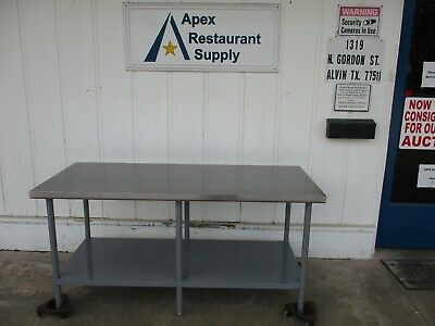 """Stainless table 30""""x72""""x35"""" Good Shape #5040"""