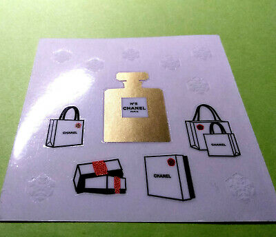 Chanel Glossy Sticker Self Adhesive Decal bag box No 5 parfum mother's day gift