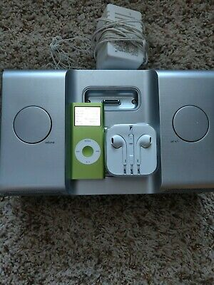 Apple iPod nano 2nd Gen Green (4 GB) with iHome and new wired headphones