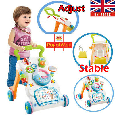 Infant First Steps Push Along Baby Walker Activity & Learning Musical Toy Gifts