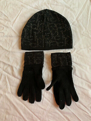 Calvin Klein Hat And Gloves Set Black Women